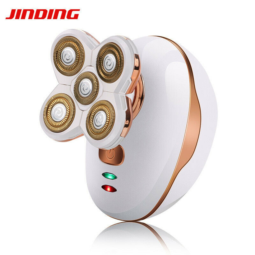 White 5D rotary floating Electric shaver Best Bald Head Hair Remover Shavers Razor in Dry and Wet Use