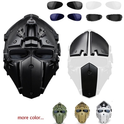 iMeshbean Airsoft and Paintball Tactical Protective Fast Helmet ABS Tactical Mask with Goggle for Airsoft Paintball WarGame