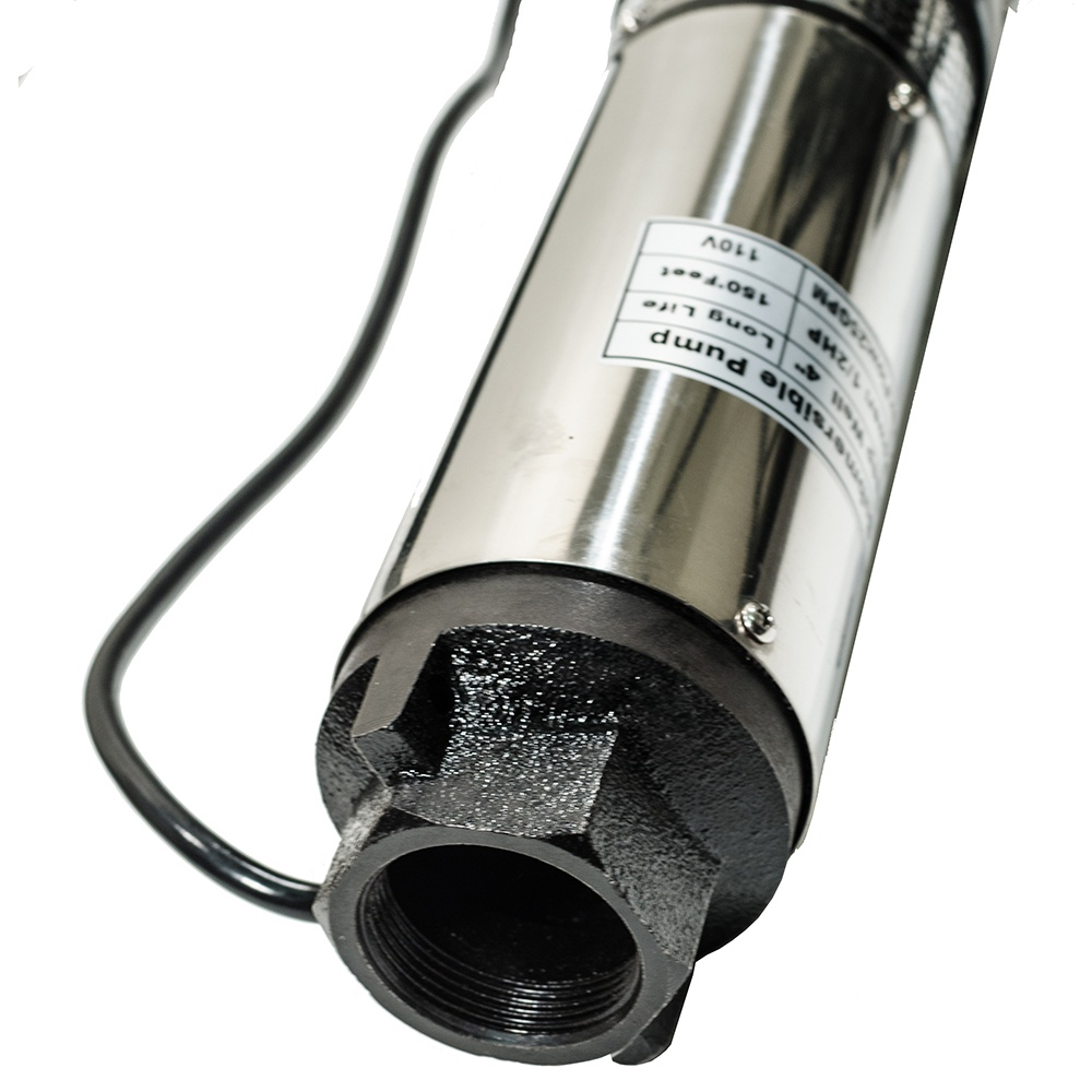 """4/"""" Deep Well 150 ft Max Submersible Pump 25 GPM long life 110V 1//2HP"""