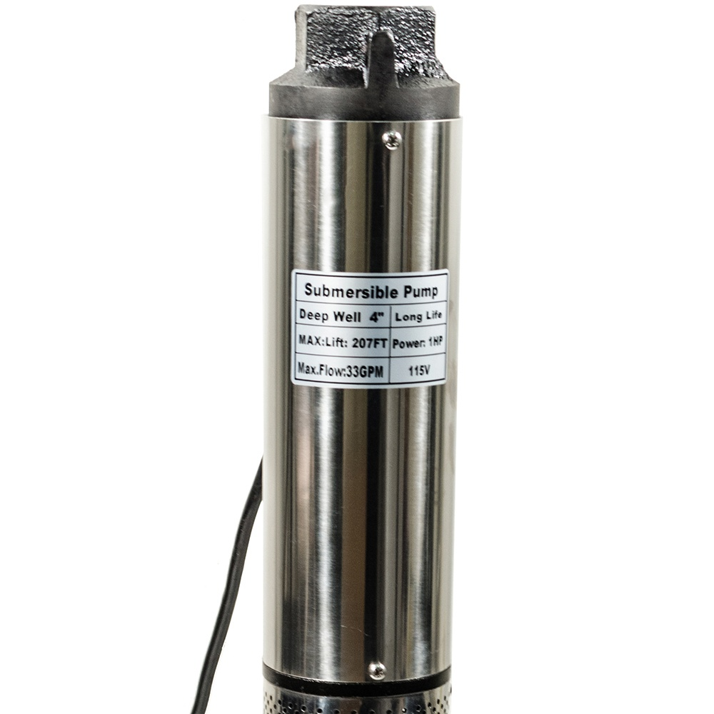 """iMeshbean Submersible Pump, 4"""" Deep Well, 1 HP, 115V, 33 GPM, 300 ft MAX Long Life US"""