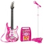 Multi-Color Electric Guitar Set with MP3 Player Learning Toys Microphone, Amp for Kids