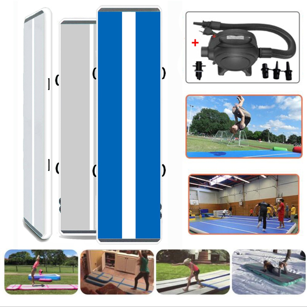 """iMeshbean 10ft/ 6"""" inflatable air track best air track tumbling mat with air pump for indoor/ outdoor sport"""