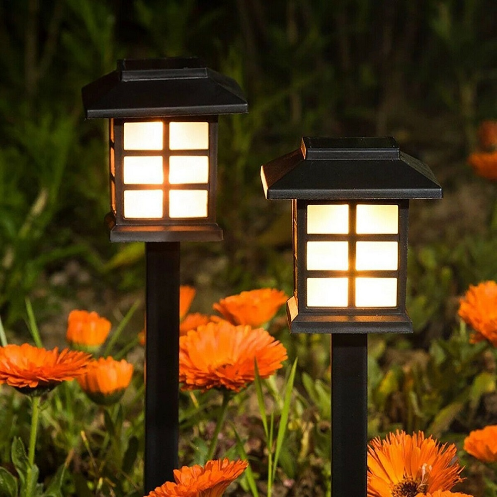 Solar Garden LED Lights Outdoor Waterproof Landscape Lawn Pathway LED Lamp