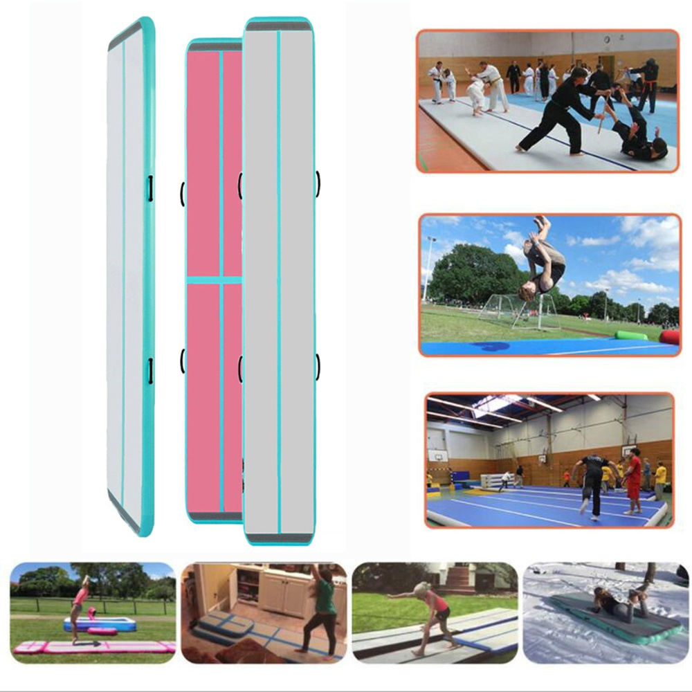 """iMeshbean 20ft/ 4"""" inflatable air track best air track tumbling mat with air pump for indoor/ outdoor sport"""
