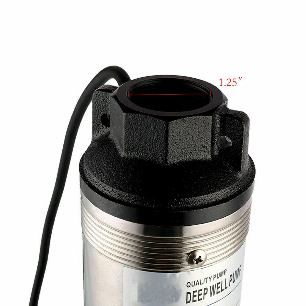 """iMeshbean Submersible Pump, 4"""" Deep Well, 1 HP, 220V, 33 GPM, 207 ft MAX Long Life US"""