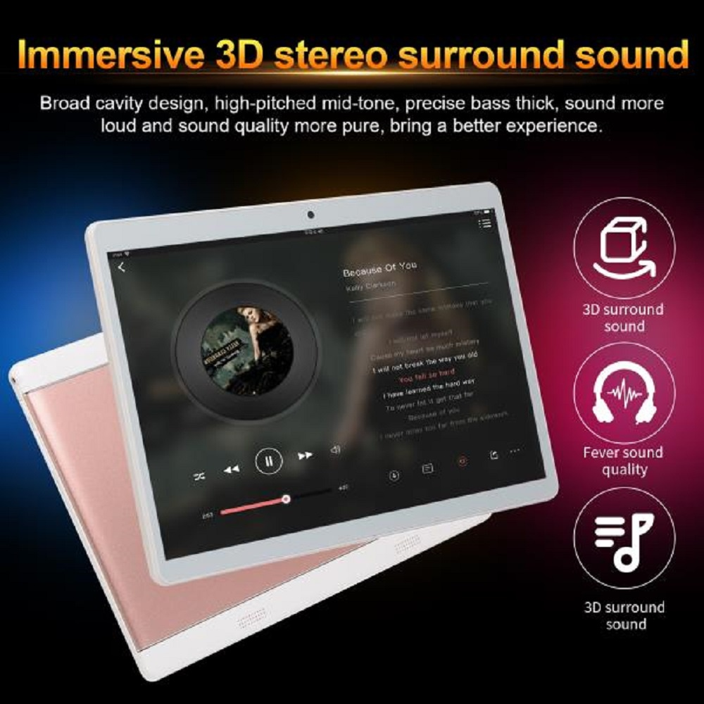 10.1 Inch HD Game Tablet Android 8.0 Ten Core Tablet PC GPS Wifi Dual Camera