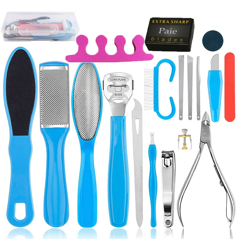 Professional 18 in 1 Pedicure Tools Kit Foot Dead Skin Peel and Callus Clean